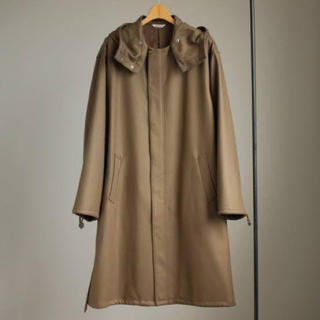 COMOLI - AURALEE LIGHTMELTON LONG HOODED COAT