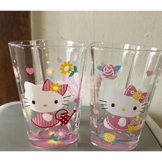 サンリオ(サンリオ)のハローキティ ハート型グラス  2個セット(グラス/カップ)