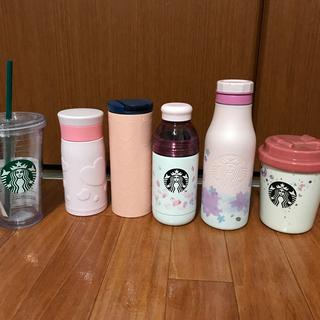 Starbucks Coffee - お得!!スタバタンブラーキャニスター7点セット【値下げ交渉OK】