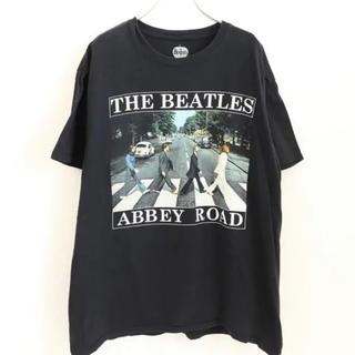 エイチアンドエム(H&M)のThe Beatles バンド ロック 古着 ブラック Tシャツ ビートルズ(Tシャツ/カットソー(半袖/袖なし))