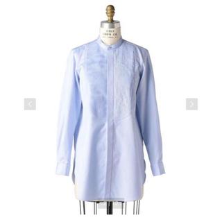 ドゥロワー(Drawer)のDrawer ドゥロワー ピンタックブザムバンドカラーシャツ ライトブルー 38(シャツ/ブラウス(長袖/七分))
