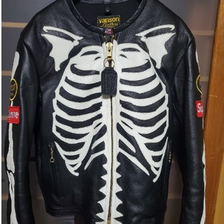 Supreme - supreme/vanson leather bones jacket
