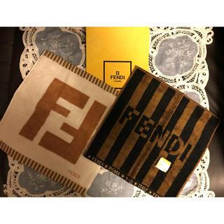 フェンディ(FENDI)のFENDI 人気のズッカ柄 ペカン柄 タオルハンカチ新品2枚(ハンカチ)