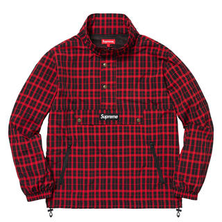 Supreme - supreme Nylon Plaid Pullover Sサイズ