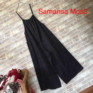 Samansa Mos2【新品】後ろボタンコーデュロイサロペット2way