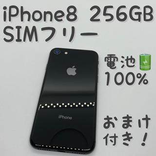 iPhone - iPhone 8 Space Gray 256GB SIMフリー 本体 _909