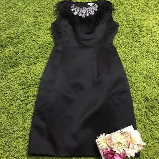 René - Reneルネ 華やかなビジュー飾り付きベーシックワンピース黒