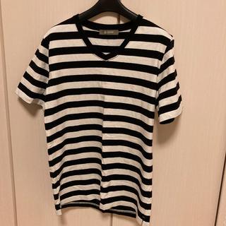 ナノユニバース(nano・universe)のナノユニバース ボーダー Tシャツ 白×黒 M(Tシャツ/カットソー(半袖/袖なし))
