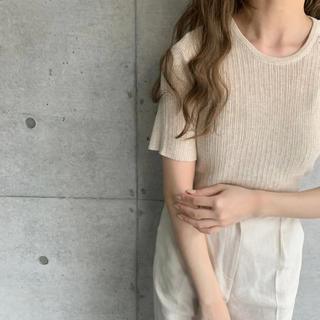 Kastane - 最終お値下げ amiur see through rib knit T