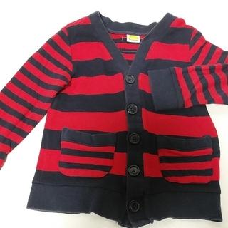 ムージョンジョン(mou jon jon)の子供服 mou jon jon ボーダーカーディガン 110(Tシャツ/カットソー)