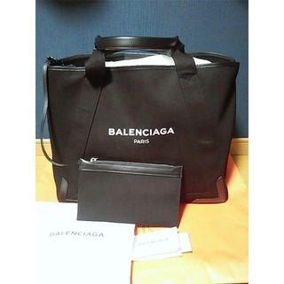 Balenciaga - BALENCIAGA バレンシアガ トートバッグ ネイビーカバ M