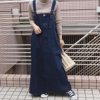 tiptoe - 前ジップジャンパースカート