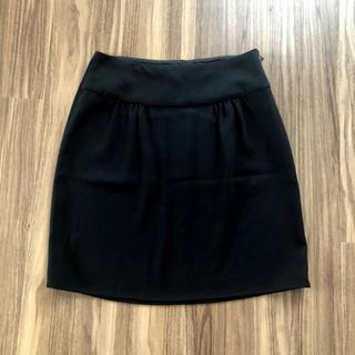 アニエスベー(agnes b.)のagnes b スカート アニエスベー  黒 ブラック(ひざ丈スカート)