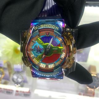 ジーショック(G-SHOCK)の【最安値】Gショック 限定品 GM-110RB-2AJF レインボーIPベゼル (腕時計(アナログ))