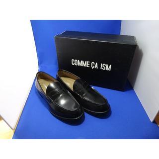 コムサイズム(COMME CA ISM)のほぼ新品 コムサイズム COMME CA ISM ローファー 本革 メンズ黒(ドレス/ビジネス)