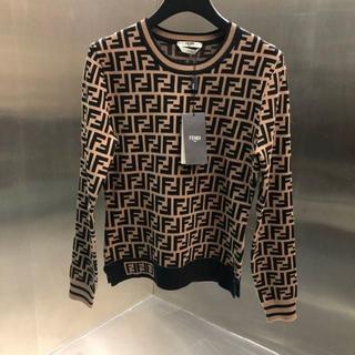 フェンディ(FENDI)のFENDI☆ FFロゴ・ストレッチニット長袖セーター(ニット/セーター)
