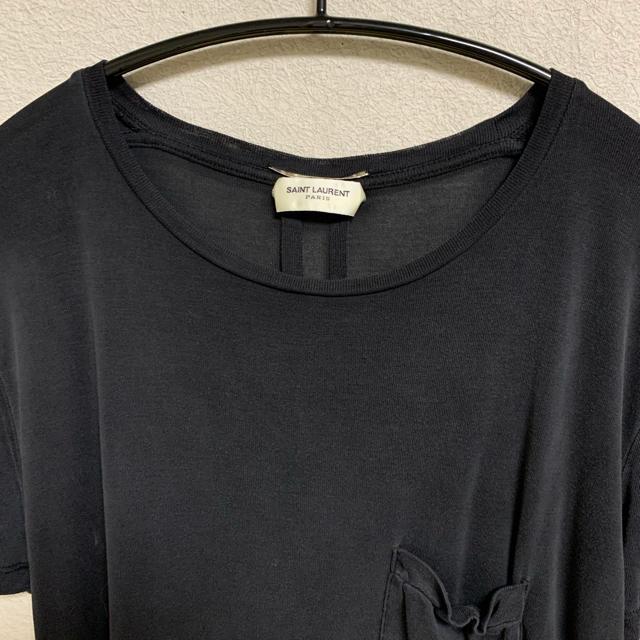 Saint Laurent(サンローラン)のエディ期 saint laurent paris シルク Tシャツ メンズのトップス(Tシャツ/カットソー(半袖/袖なし))の商品写真