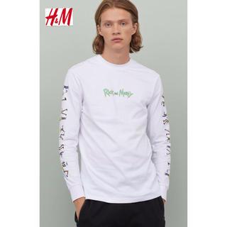 エイチアンドエム(H&M)の新品 H&M × Rick and Morty コラボ ロンTシャツ M(Tシャツ/カットソー(七分/長袖))