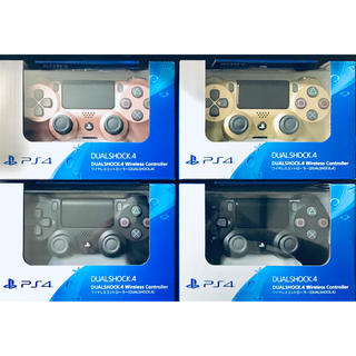プレイステーション4(PlayStation4)の新品PS4 ワイヤレスコントローラー 4個セット DUALSHOCK4 送料無料(その他)