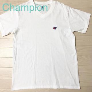 チャンピオン(Champion)の★美品★チャンピオン Tシャツ 白 Mサイズ メンズ ワンポイントロゴ シンプル(Tシャツ/カットソー(半袖/袖なし))