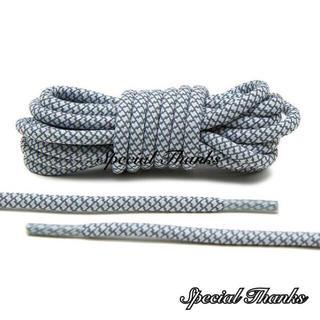 リフレクティブ/シューレース(靴紐)/ロープレース(丸紐)/ホワイト/120㎝(スニーカー)