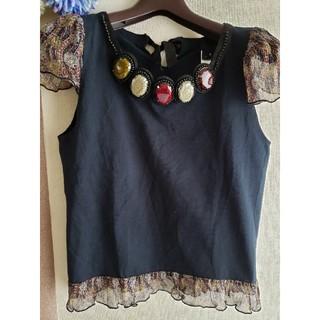 アナスイ(ANNA SUI)のANNA SUI ペプラム トップス(カットソー(半袖/袖なし))