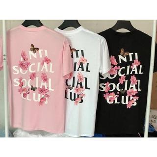 アンチ(ANTI)のAnti social social club Tシャツ ピンク(Tシャツ/カットソー(半袖/袖なし))