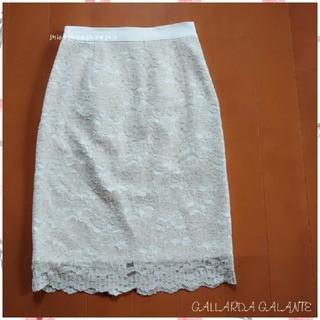 ガリャルダガランテ(GALLARDA GALANTE)の《GALLARDA GALANTE》フラワーレース タイトスカート 1(ひざ丈スカート)