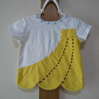 ナルミヤ インターナショナル(NARUMIYA INTERNATIONAL)のbaby cheer 大きなバナナTシャツ 80サイズ ベイビーチアー(Tシャツ)