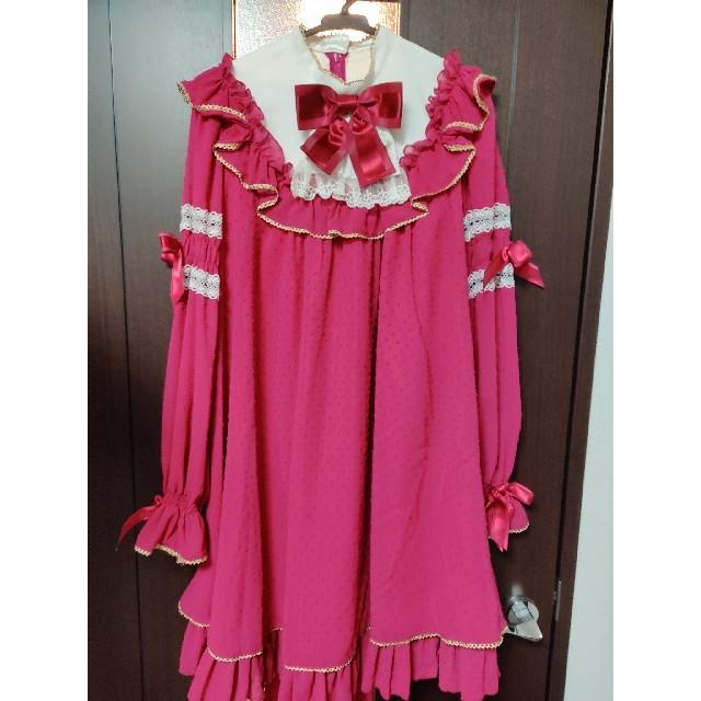 Angelic Pretty(アンジェリックプリティー)のAngelic Pretty シフォンワンピース 赤 レディースのワンピース(ミニワンピース)の商品写真