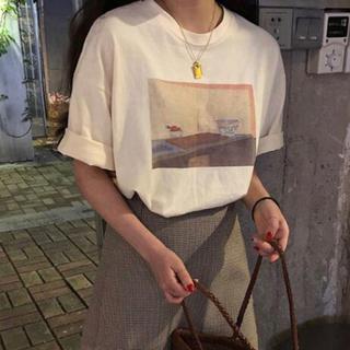 在庫処分 夏 新品 カジュアル Tシャツ 半袖 ゆったり(Tシャツ(半袖/袖なし))