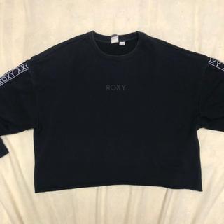 Roxy - 【ROXY】ロゴ トレーナー ブラック 黒 Lサイズ