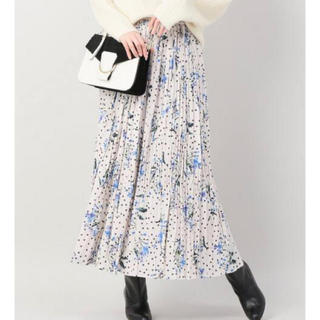 IENA - IENA ドットフラワープリーツスカート  38サイズ