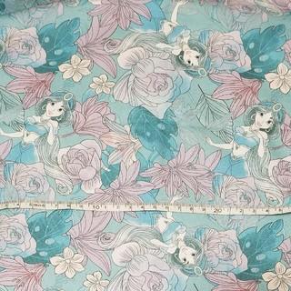 【P-13】プリンセス ディズニー 生地 輸入生地 キャラクター ハギレ レア