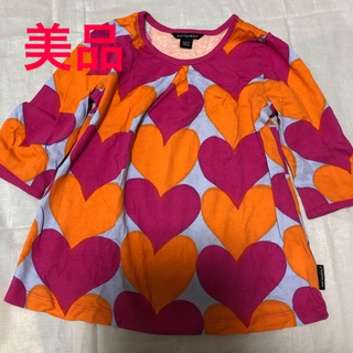 マリメッコ(marimekko)の美品 マリメッコ キッズ チュニック 104/4Y(Tシャツ/カットソー)