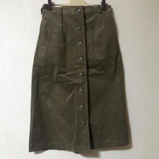 サマンサモスモス(SM2)の前ボタンタイトスカート(ひざ丈スカート)