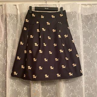 M'S GRACY - エムズグレイシー 犬柄スカート カタログ掲載