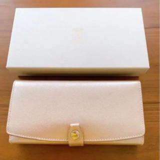 トプカピ(TOPKAPI)のTOPKAPI 長財布 トプカピ  角シボ型押し ゴールド レザー 完売 財布(財布)