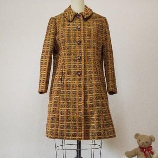 ロキエ(Lochie)のFrance 60s vintageツイードロングコート(ロングコート)