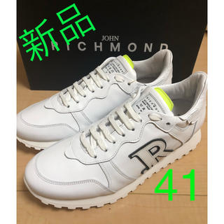 JOHN RICHMOND - 定価6.2万円 新品未使用 ジョン リッチモンド レザー スニーカー 41