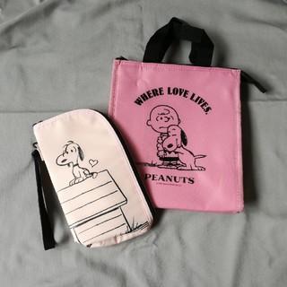 ピーナッツ(PEANUTS)のPEANUTS 保温保冷バッグ&ペットボトルホルダー(弁当用品)
