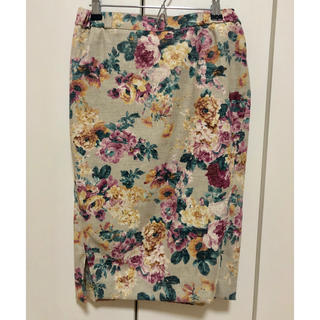 ROSE BUD - ROSE BUD   膝丈フラワー柄スカート