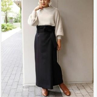 スピックアンドスパンノーブル(Spick and Span Noble)のNOBLE  ウールフタックロングタイトスカート(ロングスカート)