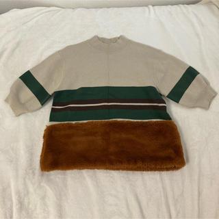 ムルーア(MURUA)のMURUA ニット ファー 5分丈 セーター(ニット/セーター)