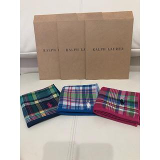 ラルフローレン(Ralph Lauren)の新品 3枚セット ラルフローレン ガーゼタオルハンカチ ハンカチタオル(ハンカチ/ポケットチーフ)