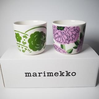 マリメッコ(marimekko)の【新品】marimekko 廃盤品オンニ&プリマヴェーラ ラテマグ2個セット(食器)