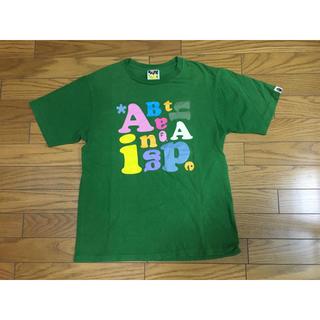 A BATHING APE - 中古エイプ TシャツM緑APE猿