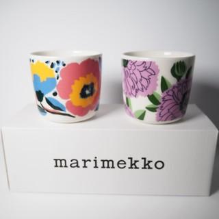 マリメッコ(marimekko)の【新品】marimekko ロサリウム&プリマヴェーラ ラテマグ2個セット(食器)