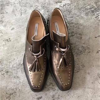 アメリヴィンテージ(Ameri VINTAGE)のAmeri VINTAGE STUDS TASSEL LOAFER Sサイズ(ローファー/革靴)