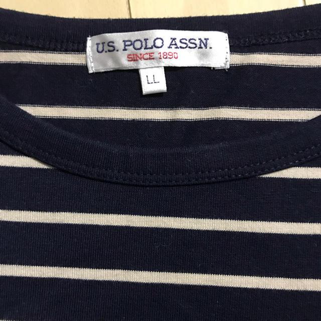 POLO RALPH LAUREN(ポロラルフローレン)のUS.POLO ASSN ボーダー Tシャツ LL レディースのトップス(Tシャツ(半袖/袖なし))の商品写真